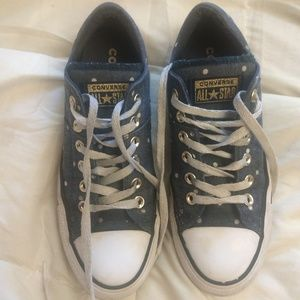 Converse polka dot All Stars sz 7.5